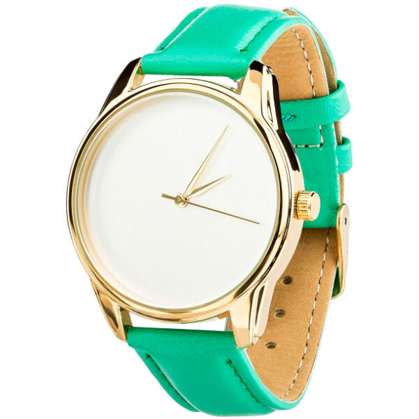 Купить Наручные часы, Часы ZIZ Минимализм ремешок мятно-бирюзовый золото дополнительный ремешок (4600280)