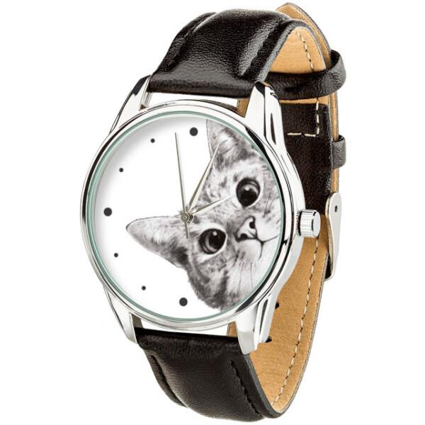Купить Наручные часы, Часы ZIZ Эй, Кот! ремешок насыщенно-черный серебро дополнительный ремешок (4618053)