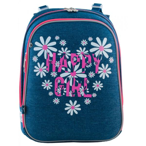 Купить Рюкзаки, Школьный каркасный рюкзак 1 Вересня для девочки Happy girl (H-12), YES