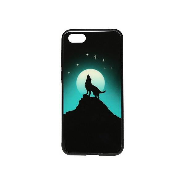 Купить Чехлы для телефонов, Чехол-накладка TOTO Night Light Print Glass Case Huawei Y5 2018 Howling Wolf'