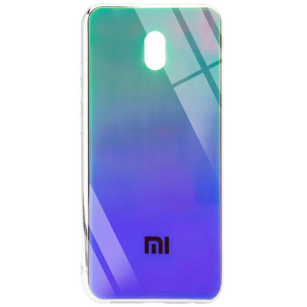 Купить Чехлы для телефонов, TPU+Glass чехол Gradient Rainbow с лого для Xiaomi Redmi 8a, Epik