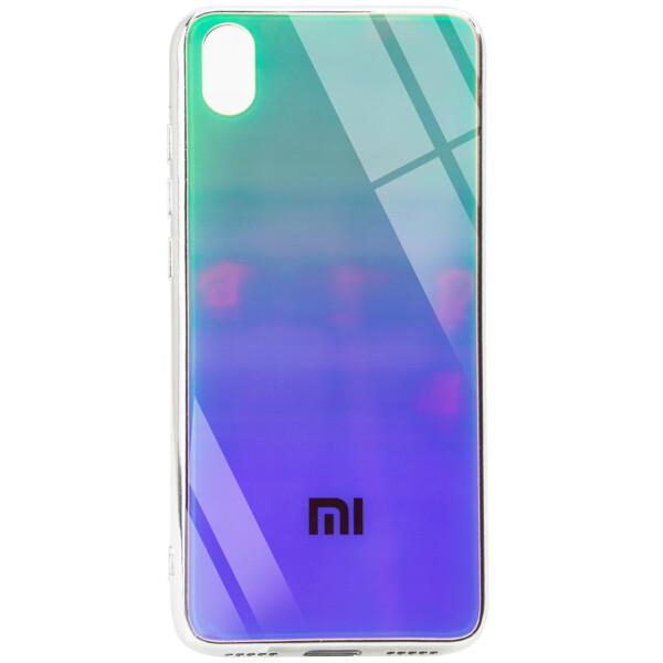 Купить Чехлы для телефонов, TPU+Glass чехол Gradient Rainbow с лого для Xiaomi Redmi 7A, Epik