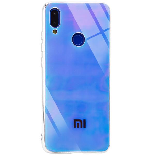 Купить Чехлы для телефонов, TPU+Glass чехол Gradient Rainbow с лого для Xiaomi Redmi 7, Epik