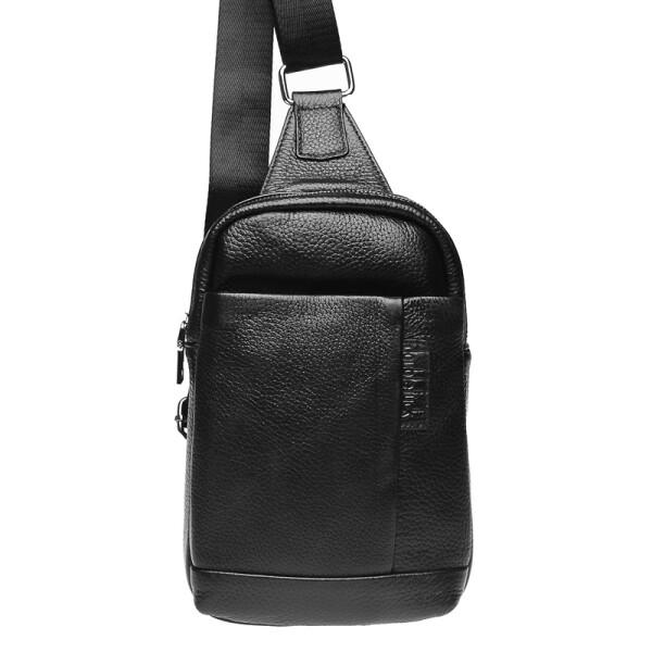 Купить Рюкзаки, Мужская кожаная сумка-рюкзак Keizer K18675-black