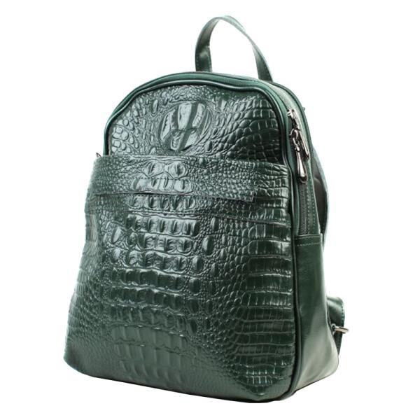Купить Рюкзаки, Женский кожаный рюкзак зеленого цвета Borsa Leather sol10t5861-green