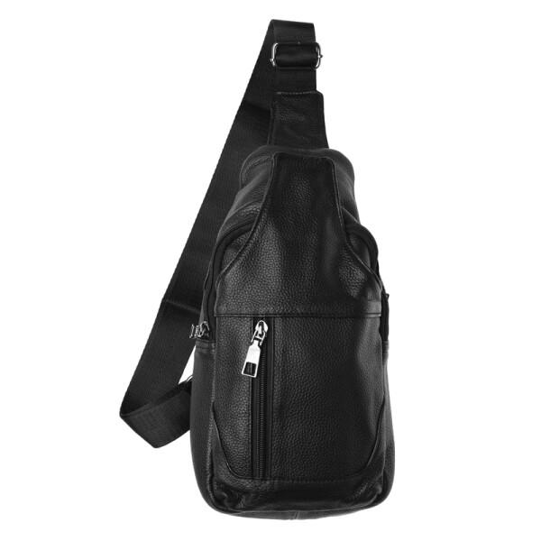 Купить Рюкзаки, Мужская кожаная сумка-рюкзак Keizer K118-black
