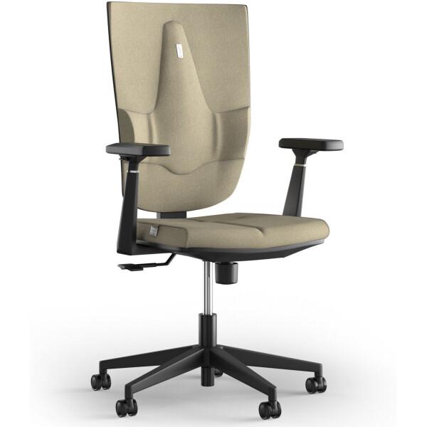 Купить со скидкой Кресло KULIK SYSTEM SPACE Сream Ткань без подголовника без узора
