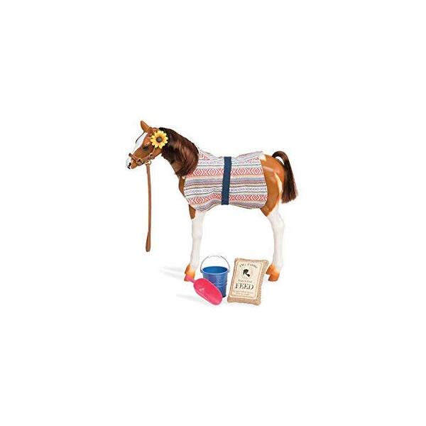 Купить Фигурки игровые, персонажи мультфильмов, Игровая фигура Our Generation Жеребенок породы Пинто Пасo 26 см BD38019Z