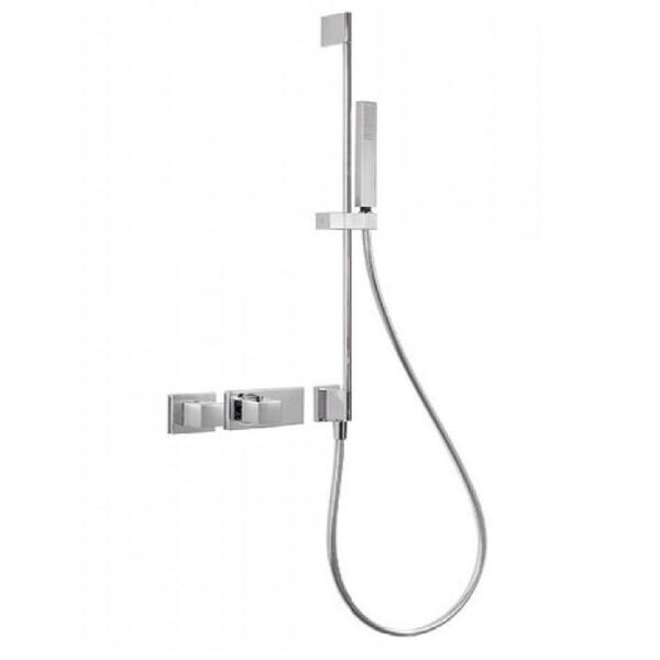 Купить Смесители, Смеситель-термостат Tres Block System, 2 потребителя, с душ.штангой