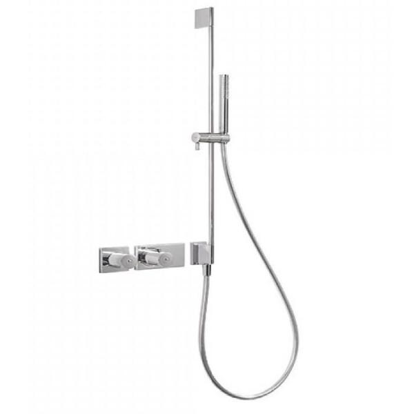 Купить Смесители, Смеситель-термостат скрытого монтажа Tres Block System, 2 потребителя, с душ.штангой