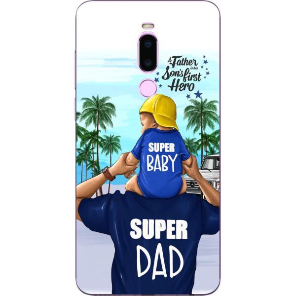 Купить Чехлы для телефонов, Бампер силиконовый чехол Amstel для Meizu M8 с картинкой Супер папа