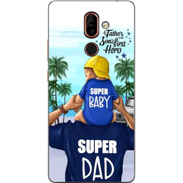 Купить Чехлы для телефонов, Бампер силиконовый чехол Amstel для Nokia 7 Plus с картинкой Супер папа