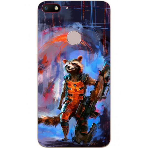 Купить Чехлы для телефонов, Силиконовый чехол Amstel для ZTE Nubia V18 с картинкой Енот Ракета
