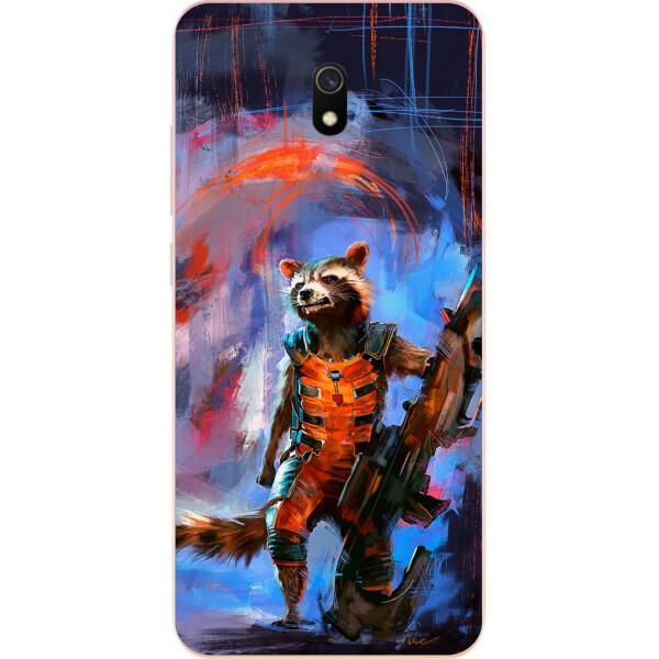 Купить Чехлы для телефонов, Силиконовый чехол Amstel для Xiaomi Redmi 8A с картинкой Енот Ракета