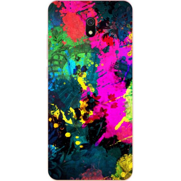 Купить Чехлы для телефонов, Силиконовый чехол бампер Amstel для Xiaomi Redmi 8A с картинкой Яркая абстракция