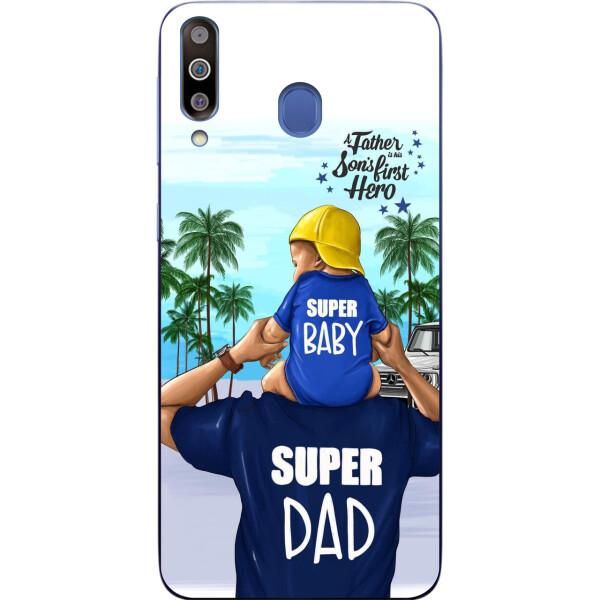 Купить Чехлы для телефонов, Бампер силиконовый чехол Amstel для Samsung M30 2019 Galaxy M305 с картинкой Супер папа