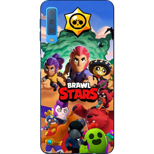 Купить Чехлы для телефонов, Силиконовый чехол Amstel для Samsung A750F Galaxy A7 2018 с картинкой Игра Brawl Stars