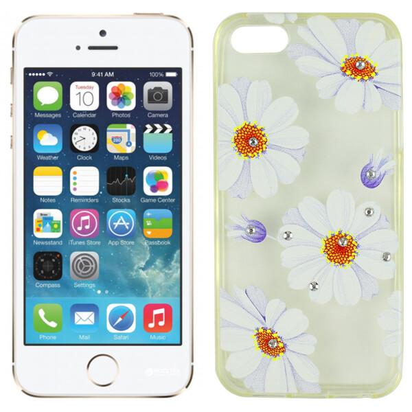 Купить Чехлы для телефонов, Чехол Lucent Diamond Case для iPhone 5 Daisy (Blue) (6341)