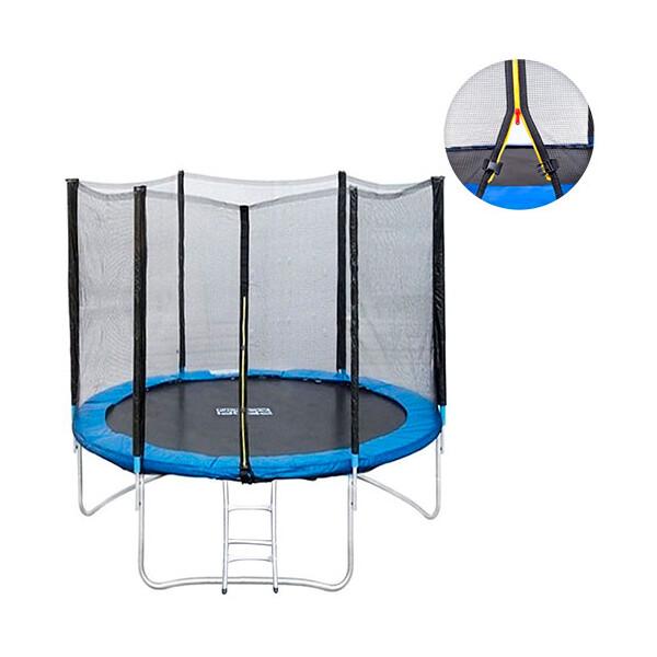 Купить Батуты, Спортивный батут Profi с лестницей 244 см (MS 0496)