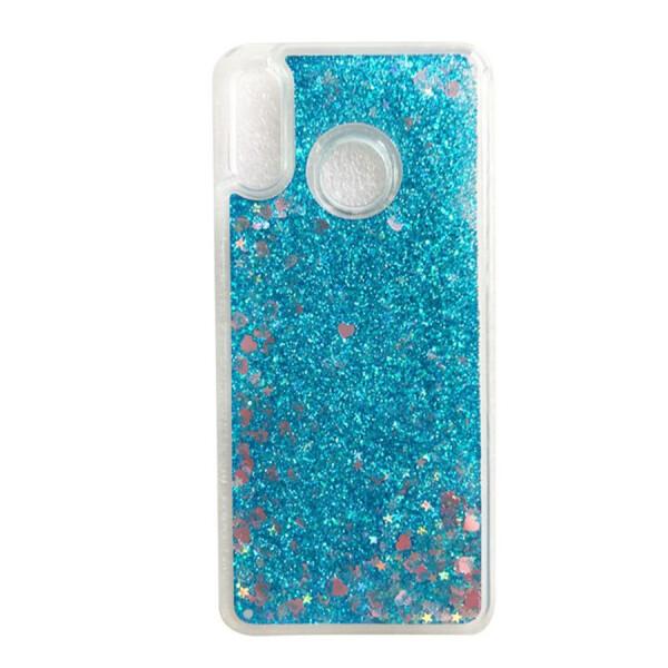 Купить Чехлы для телефонов, TPU чехол Liquid hearts для Huawei P Smart+ (nova 3i) Бирюзовый, Epik