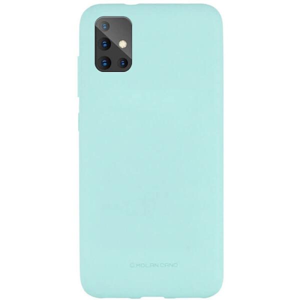 Купить Чехлы для телефонов, TPU чехол Molan Cano Smooth для Samsung Galaxy A51 Голубой, Epik