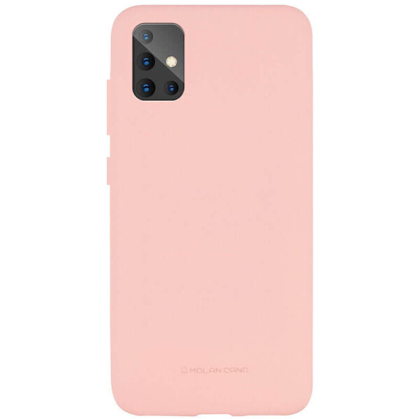 Купить Чехлы для телефонов, TPU чехол Molan Cano Smooth для Samsung Galaxy A51 Розовый, Epik