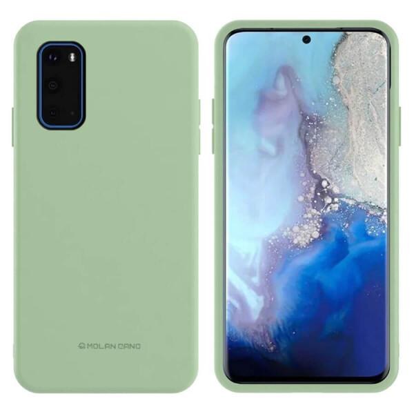 Купить Чехлы для телефонов, TPU чехол Molan Cano Smooth для Samsung Galaxy S20 Зеленый, Epik