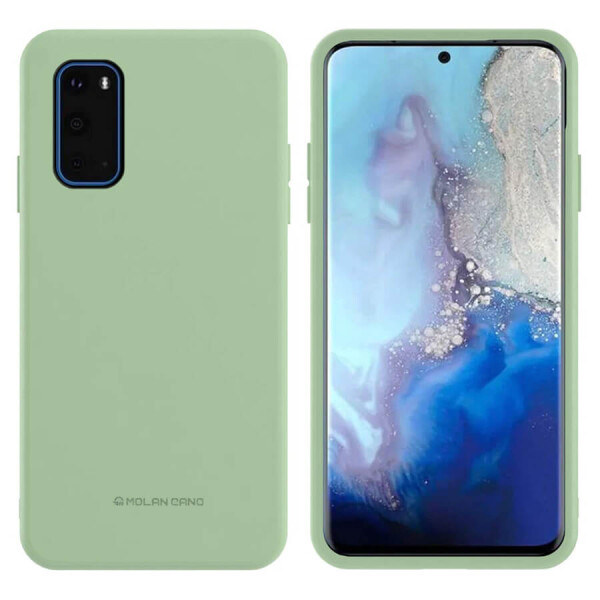 Купить Чехлы для телефонов, TPU чехол Molan Cano Smooth для Samsung Galaxy S20+ Зеленый, Epik