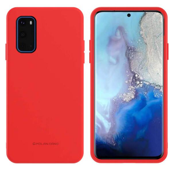 Купить Чехлы для телефонов, TPU чехол Molan Cano Smooth для Samsung Galaxy S20+ Красный, Epik