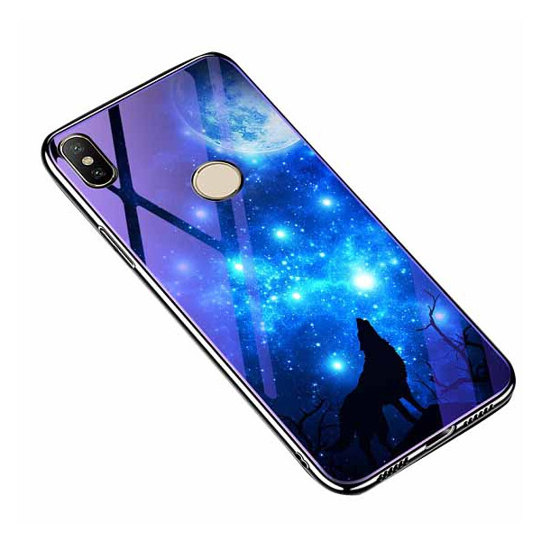 Купить Чехлы для телефонов, TPU+Glass чехол Fantasy с глянцевыми торцами для Xiaomi Mi A2 Lite / Xiaomi Redmi 6 Pro Лунная ночь, Epik