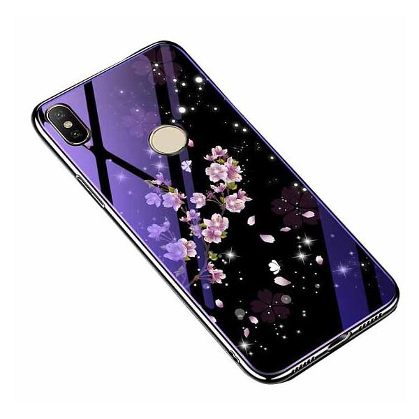 Купить Чехлы для телефонов, TPU+Glass чехол Fantasy с глянцевыми торцами для Xiaomi Mi A2 Lite / Xiaomi Redmi 6 Pro Цветение, Epik