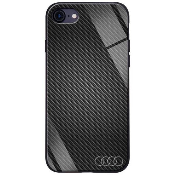Купить Чехлы для телефонов, TPU+Glass чехол ForFun для Apple iPhone 7 / 8 (4.7 ) Черный Карбон/Ауди, Epik