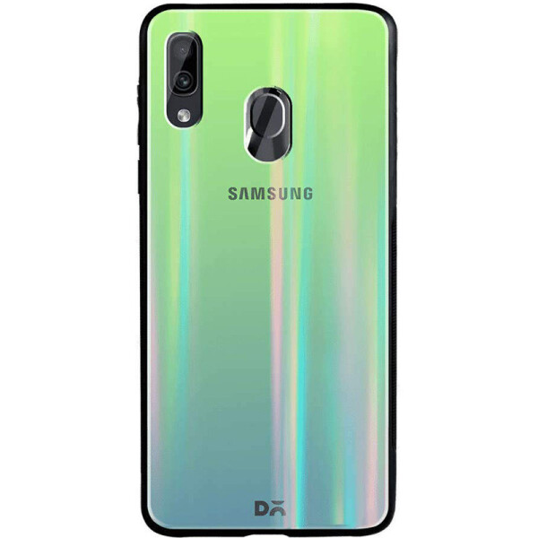 Купить Чехлы для телефонов, TPU+Glass чехол Gradient Aurora с лого для Samsung Galaxy A20 / A30 Зеленый, Epik