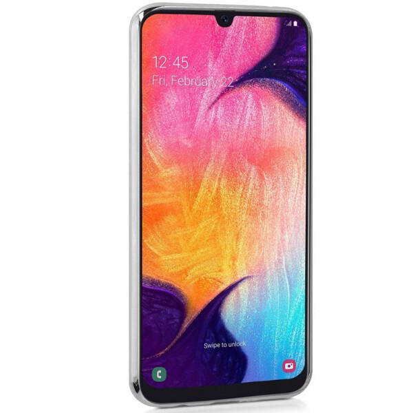 Купить Чехлы для телефонов, TPU+Glass чехол Gradient Rainbow с лого для Samsung Galaxy A70 (A705F) Синий, Epik