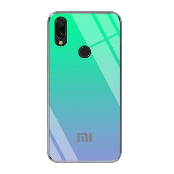 Купить Чехлы для телефонов, TPU+Glass чехол Gradient Rainbow с лого для Xiaomi Redmi 7 Зеленый, Epik