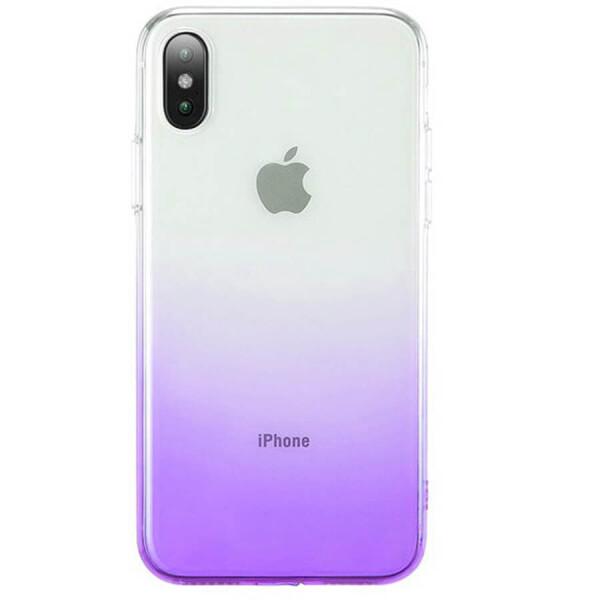 Купить Чехлы для телефонов, TPU+PC Ombre для Apple iPhone XS Max (6.5 ) Фиолетовый, Epik