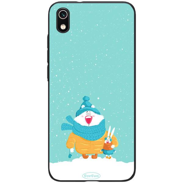 Купить Чехлы для телефонов, TPU+PC чехол ForFun для Xiaomi Redmi 7A Медведь и заяц / Голубой, Epik