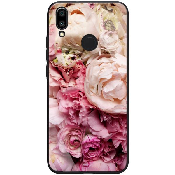 Купить Чехлы для телефонов, TPU+PC чехол ForFun для Xiaomi Redmi Note 7 / Note 7 Pro / Note 7s Пионы / Розовый, Epik