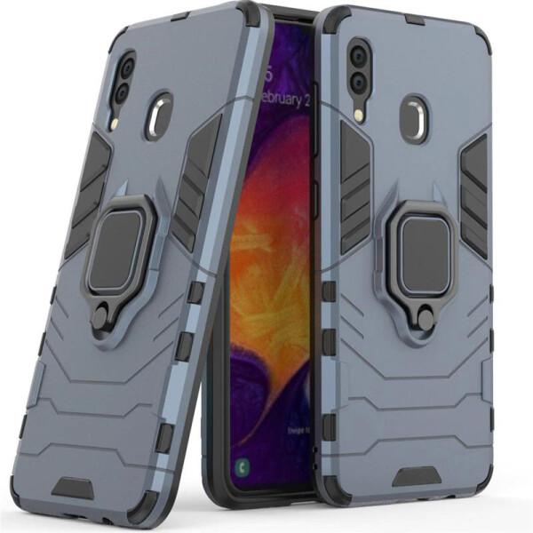 Купить Чехлы для телефонов, Ударопрочный чехол Transformer Ring под магнитный держатель для Samsung Galaxy A20 / A30 Черный / Soul Black, Epik