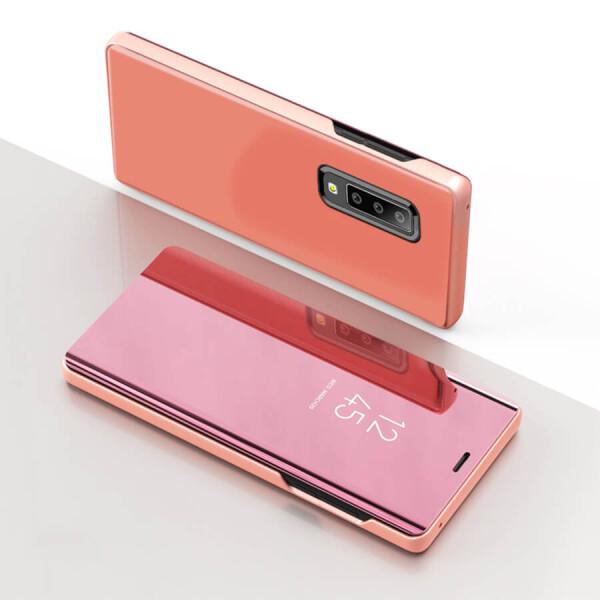Купить Чехлы для телефонов, Чехол-книжка Clear View Standing Cover для Samsung A750 Galaxy A7 (2018) Серебряный, Epik