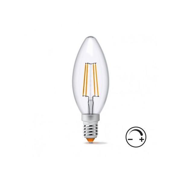 Купить Лампочки, Лампа филаментая Videx C37F 4W E14 4100K 220V (VL-C37F-04144)