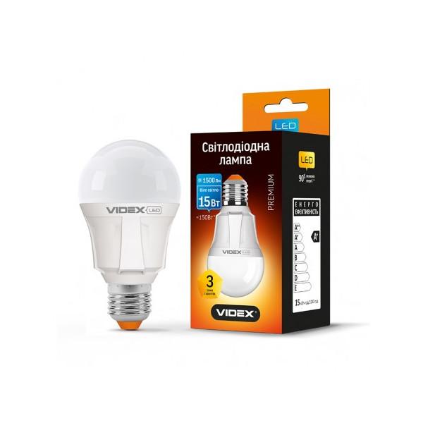 Купить Лампочки, Лампа светодиодная Videx A60 15W E27 4100K 220V (VL-A60-15274)