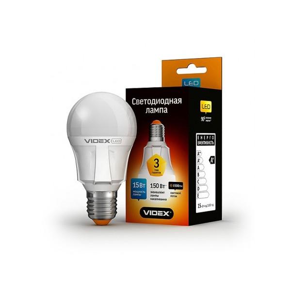 Купить Лампочки, Лампа светодиодная Videx A60 15W E27 3000K 220V (VL-A60-15273)
