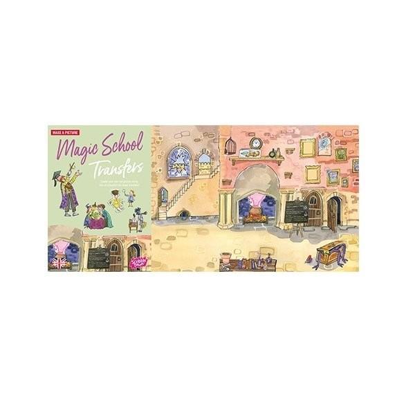 Наборы для творчества и рукоделия, Переводные наклейки Scribble Down Школа магии (SD/05)  - купить со скидкой