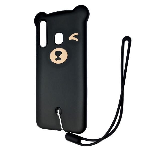 Чехлы для телефонов, Чехол-накладка DK Silicone Winking Bear для Samsung A20 / A30 (01), DK-Case  - купить со скидкой