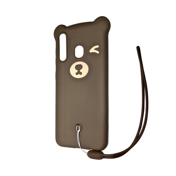 Купить Чехлы для телефонов, Чехол-накладка DK Silicone Winking Bear для Samsung A20 / A30 (04), DK-Case