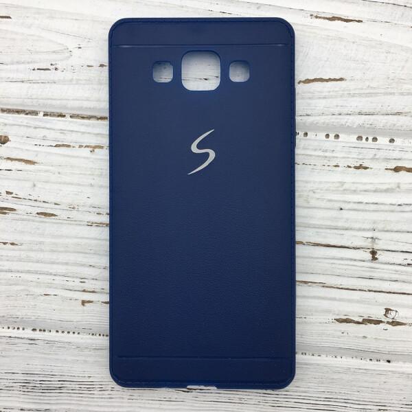 Купить Чехлы для телефонов, Чехол-накладка DK-Case силикон под кожу с хром лого для Samsung S5 (blue)