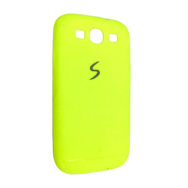 Купить Чехлы для телефонов, Чехол-накладка DK-Case силикон хром лого под кожу для SAMSUNG S3 (light green)