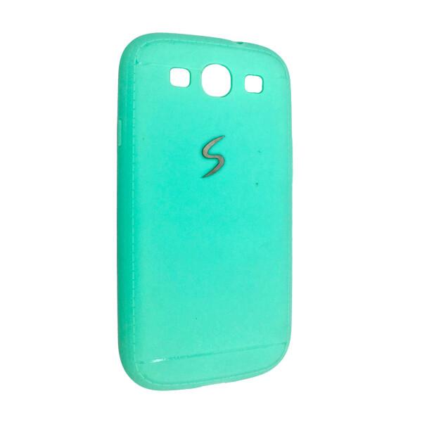 Купить Чехлы для телефонов, Чехол-накладка DK-Case силикон хром лого под кожу для Samsung S3 (mint)