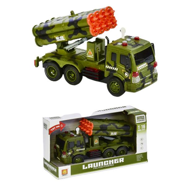 Купить Машинки, техника игровая, Машина Пусковая установка WY 650 D Пусковая установка, инерция, свет, звук, в коробке, Мир игрушек